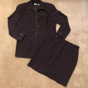 Ann Taylor Brown Skirt Suit Set Business Attire
